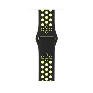 Apple iWatch Series 2 42mm Space Gray Aluminum Case with Black/Volt Nike Sport Band (MP0A2)