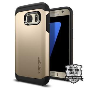 Spigen Tough Armor Case For Galaxy S7 - Champagne Gold
