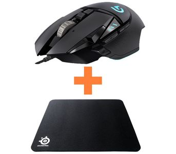 Logitech Bundle 1 (G502 Mouse + Qck Mass Mouse Pad)