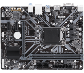 Gigabyte H310M H Intel H310 Ultra Durable Motherboard