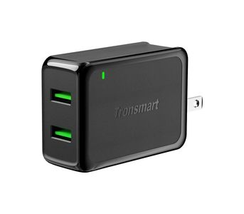 Tronsmart W2TF 36W Dual Port Quick Charge 3.0 Wall Charger - Black