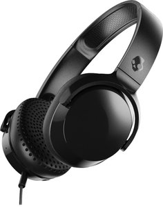 Skullcandy Riff On-Ear Headphones with Mic  Black/Black