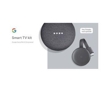 Google Home Mini and Chromecast - Google Smart TV Kit