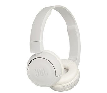 JBL T450BT Wireless Bluetooth On-Ear Headphones - White