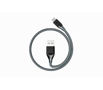 Tronsmart ATC6 Braided Nylon USB-C to USB-A Charging & Syncing Cable 3Ft x 1 - Grey/Black