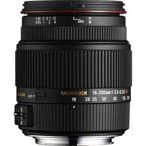 Sigma 18-200mm f/3.5-6.3 Mark II DC OS Lens