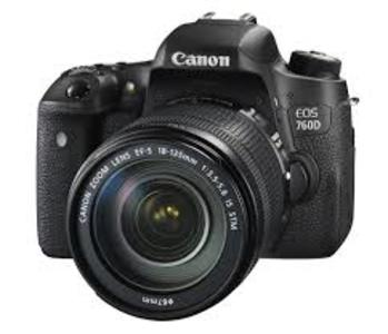 Canon EOS 760D with 18-135mm Lens DSLR Camera