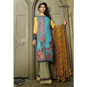 Asim Jofa - Luxury Lawn Collection 18 - AJL18-09A