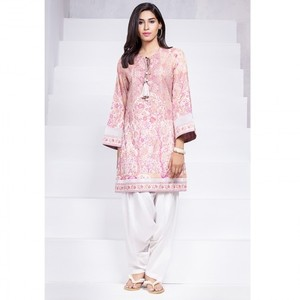 Ombre Collection 18 - Peach Unstitched 1 Piece Printed Lawn Shirt JC-19-18 By Alkaram