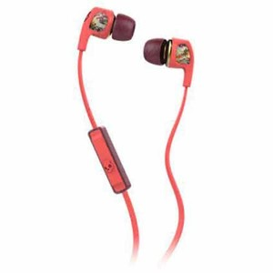 Skullcandy Dime Coral Floral Burgundy with Mic S2PGGY-419