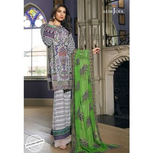 Asim Jofa - Luxury Lawn Collection 18 - AJL18-10A