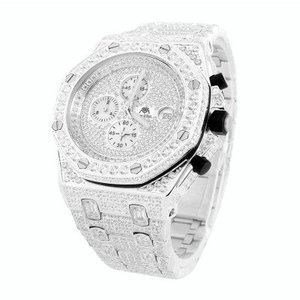 14Kt White Gold Plated Customized 47mm Presidential Luxury Watch