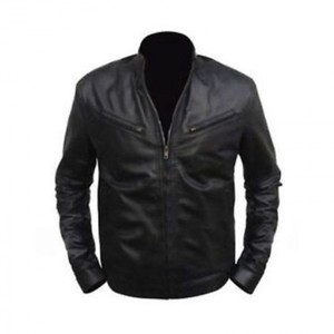 Black Stylish Real Leather Regular Fit Biker Jacket Diesel Men By Cavalry
