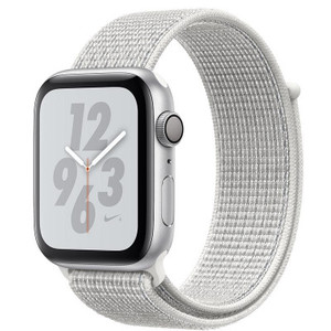 Apple Watch Series 4 MTX72 40mm Nike+ Silver Aluminum Case with Summit White Nike Sport Loop (GPS+Cellular)