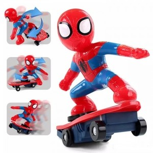 Super Heroes Spiderman RC Skateboard Anti Rolling Music Toy