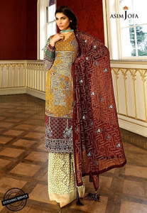 Asim Jofa - Luxury Lawn Collection 18 - AJL18-08A