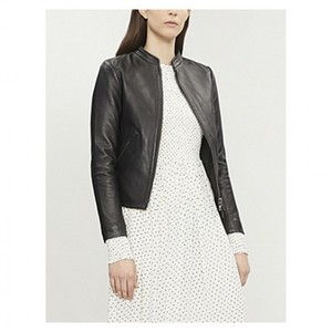 Black Faux Leather Jacket 3005 By Di Pelle
