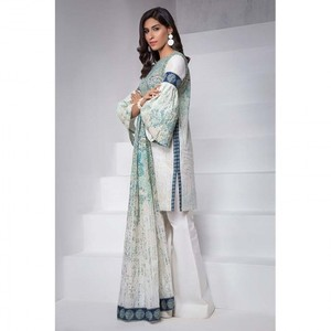 Ombre Collection 18 - Green Unstitched 3 Piece with Lawn Dupatta JC-02-18 By Alkaram