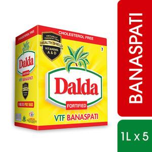 Dalda VTF Banaspati Ghee 1 Litre x 5 Pack