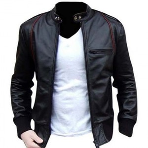 Black Bomber Aviator Faux Leather Jacket By Cavalry