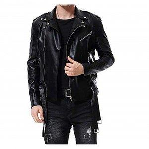 Black Italian Style Mens Biker Jacket 1009 By Di Pelle