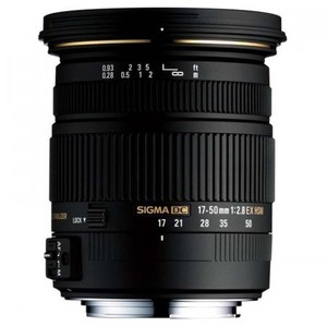 SIGMA Zoom Lens for Canon DSLRs - with APS-C - 17-50mm f/2.8 EX DC OS HSM - Black