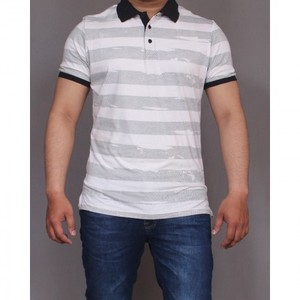 Red Tree P-Tshirt- White & Grey Stripes-RT1506