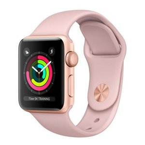 Apple Watch Series 3 MQKW2 38MM Gold Aluminum Case with Pink Sand Sport Band (GPS)