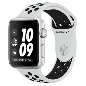 Apple Watch MQL32 Nike+ 42mm Silver Aluminum Case With Platinum/Black Sport Band Series 3 (GPS)