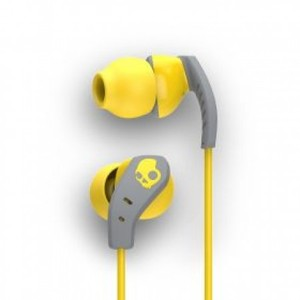 Skullcandy S2CDGY-411 Method In-Ear Sport Performance Earphones Yellow And Gray