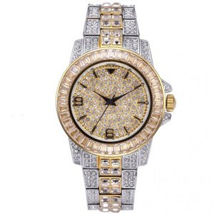 18K White Gold Plated Rolexable Luxury Watch
