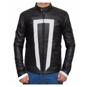 Black Ghost Real Leather Jacket Regular Fit Biker Rider Men By Cavalry