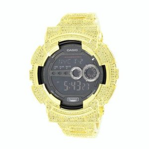 Casio G-Shock GD100-1B Mens Watch 14kt Gold Plated