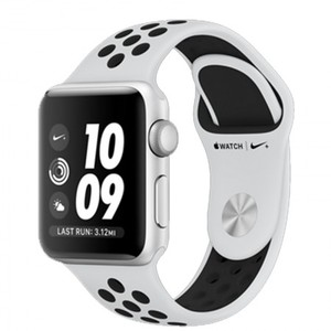 Apple Watch Series 3 Nike+ MQKX2 38mm Silver Aluminum Case With Pure Nike Sport Band (GPS)