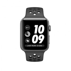 Apple Watch Nike+ MQ162 38mm Aluminium Grey Nike Sport Band Anthracite Black