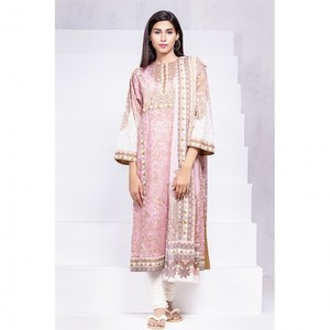 Ombre Collection 18 - Pink Unstitched 2 Piece with Digital Dupatta & Yoke JC-23-18 By Alkaram