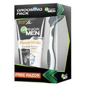 Garnier Men Power White Double Action Face Wash With Free Schick Razor 100ml