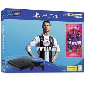 Playstation 4 Slim Console 500GB with FIFA 19 Black
