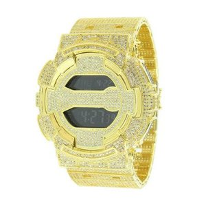 Casio Gold G Shock GD100-1B Mens Watch 14kt Gold Plated