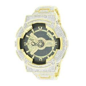 Casio G-Shock GA110GB-1A 52 mm Mens Watch 14kt Gold Plated