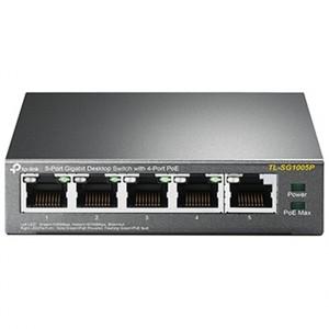 TP-LINK TL-SG1005P 5-Port Gigabit Desktop Switch with 4-Port PoE