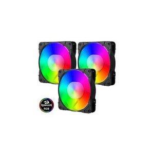 Redragon GC F007 120mm RGB Triple Case Fan Pack