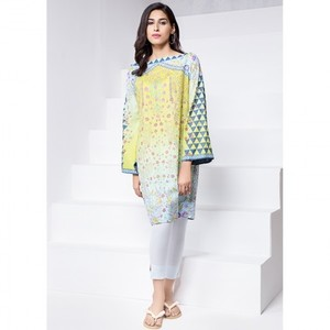 Ombre Collection 18 - Lime Unstitched 1 Piece Printed Lawn Shirt JC-13-18 By Alkaram