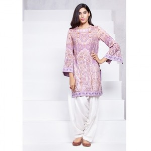 Ombre Collection 18 - Purple Unstitched 1 Piece Printed Lawn Shirt JC-19-18 By Alkaram