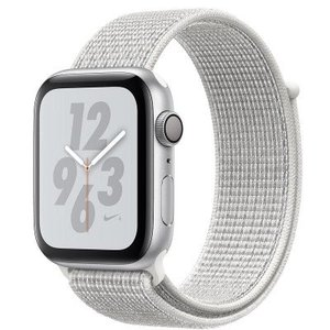 Apple Watch Series 4 MU7H2 44mm Nike+ Silver Aluminum Case with Summit White Nike Sport Loop (GPS)