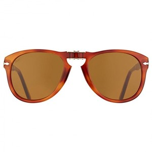 Persol PO0714-96/33 Brown Square Sunglasses