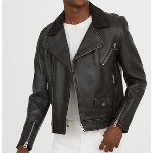 Black Leather Biker Jacket 2001 By Di Pelle