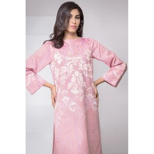 Ombre Collection 18 - Pink Unstitched 1 Piece Dyed Embroidered Shirt JC-27-18 By Alkaram