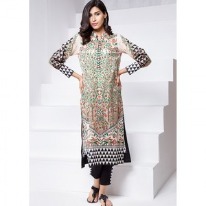 Ombre Collection 18 - Beige Unstitched 1 Piece Printed Lawn Shirt JC-13-18 By Alkaram
