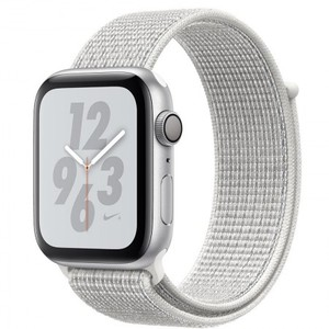 Apple Watch Series 4 MU7F2 40mm Nike+ Silver Aluminum Case with Summit White Nike Sport Loop (GPS)